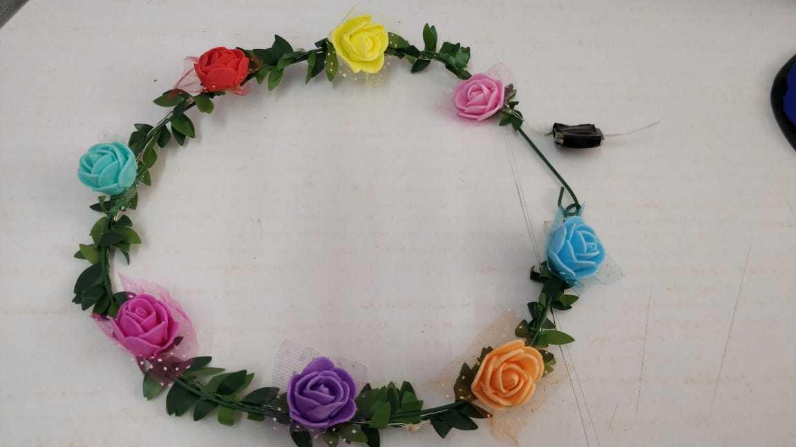 Floral Rose Flower LED Light Headband