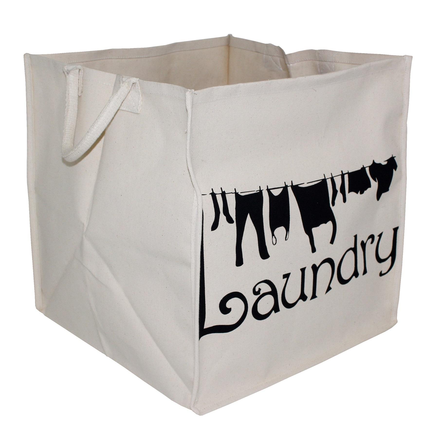 10 Oz Pp Laminated Natural Canvas Laundry Bag