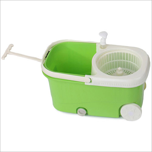 Spin Mop With Wheels Plastic