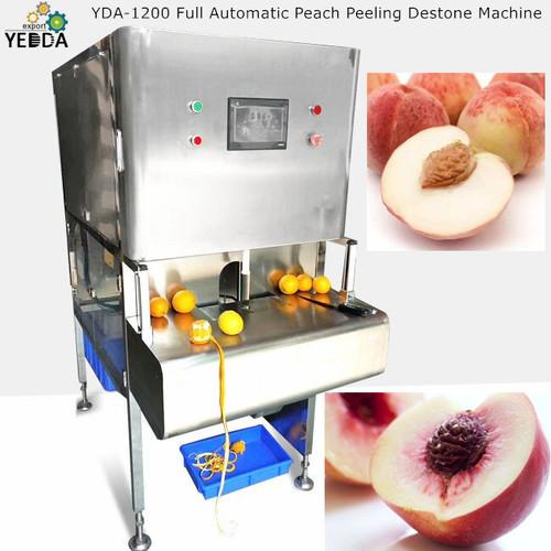 Yda-1200 Full Automatic Peach Peeling Destone Machine