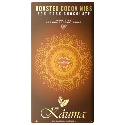 Roasted Cocoa Nibs Dark Chocolate