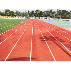 Synthetic Rubber Running Track