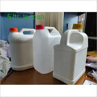 5 Ltr White Plastic Jerry Can Bottle
