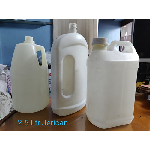 2.5 Ltr White Plastic Jerry Can Bottle