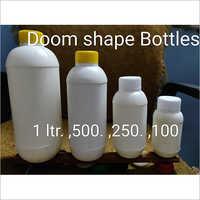White Plastic Doom Shape Bottle
