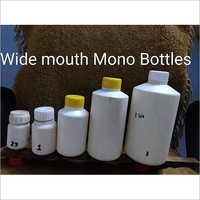 White Plastic Wide Mouth Mono Bottle
