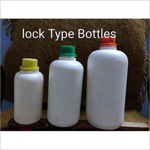 White HDPE Lock Type Bottle