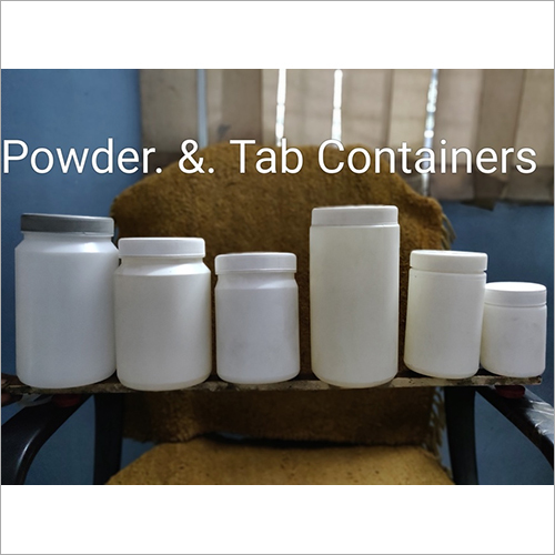 Plastic Powder and Tablet Container