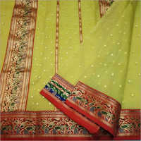 Ladies Party Wear Chanderi Silk Saree