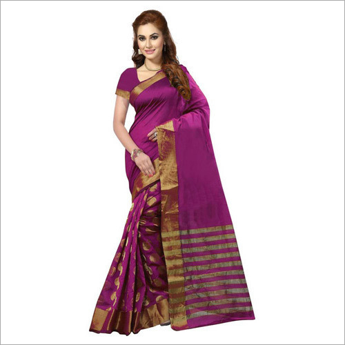 Ladies Purple Silk Saree
