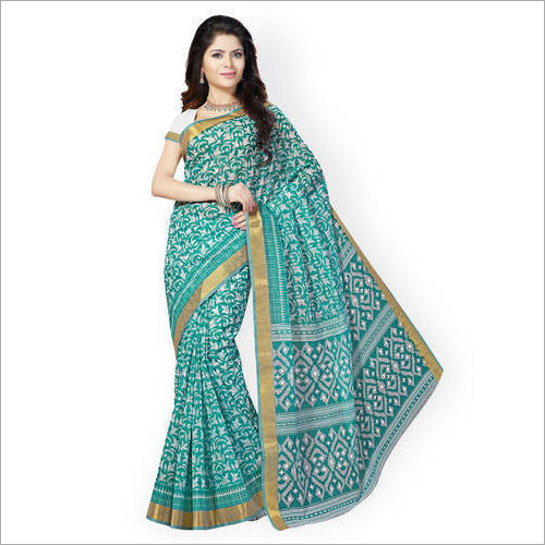 Ladies Cotton Saree With Border