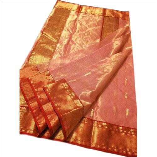 Ladies Party Wear Chanderi Silk Cotton Saree