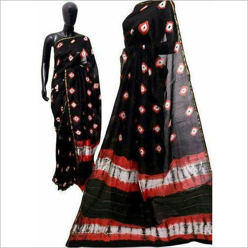 Ladies Trendy Shibori Printed Saree