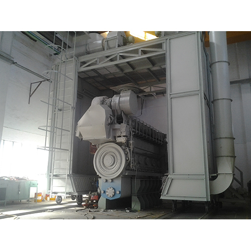 Liquid Paint Booth On Wheels For Big Size Engines