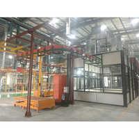 Powder Coating Plant With I Beam Conveyer Plant