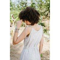 Pure Linen Tonic Dress Solid Women Linen