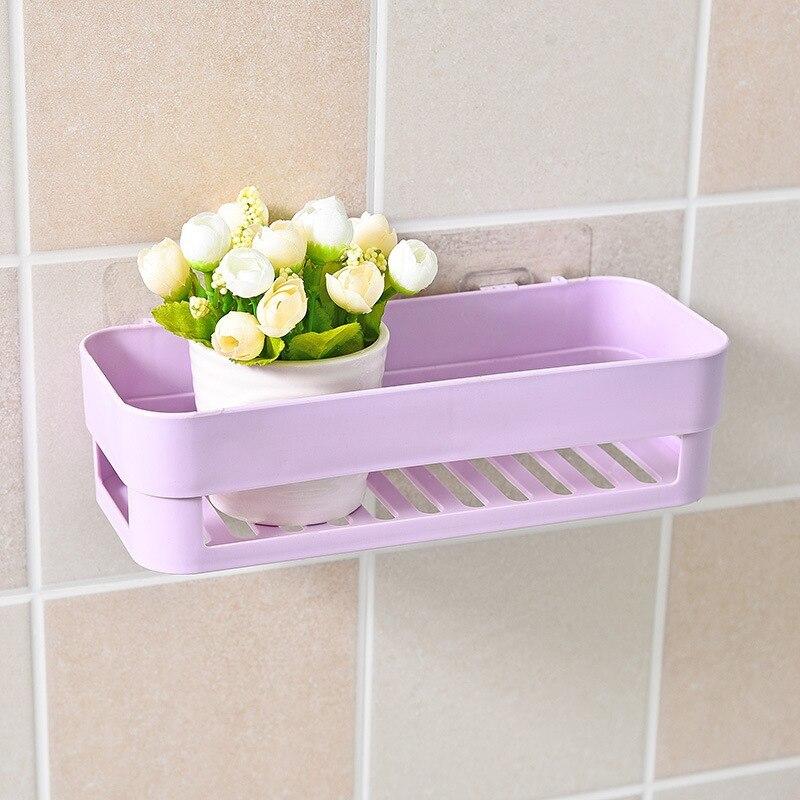 Shelf Adhesive Rectangle Basket Storage