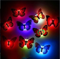LED Lights Butterfly 3D Wall Stickers Home Decoration