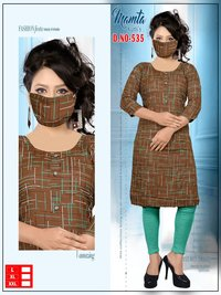 KURTI WITH MASK