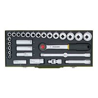 Socket set for heavy duty mechanics. With 1/2″ ratchet