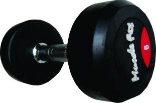 Rubber Dumbbell Round Designed