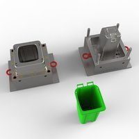 Plastic Square Dustbin Mould