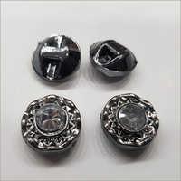 Metal Grey Fancy Button