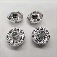 Silver Designer Button