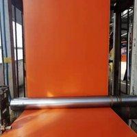 0.3mm Thickness Pvc Coated Fiberglass Fabric Orange Color