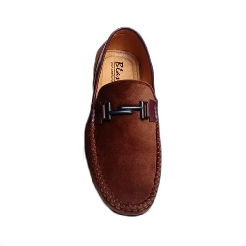 Mens Brown Velvet Loafers