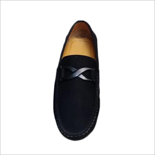 Mens Black Velvet Loafers