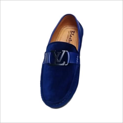 Mens Blue Velvet Loafers