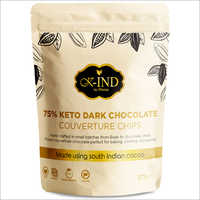 75 Percent Keto Dark Chocolate Couverture Chips