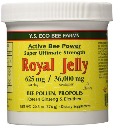 Y.S. Eco Bee Farms Fresh Royal Jelly + Bee Pollen, Propolis, Ginseng, Honey Mix - 36,000Mg Org 20.3 Oz