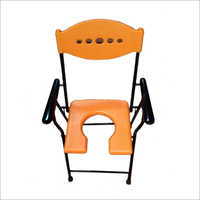 Orange Commode Chair