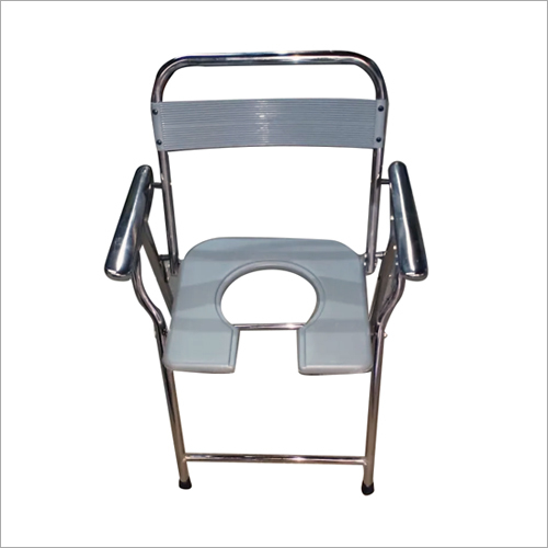 Chrome Commode Chair