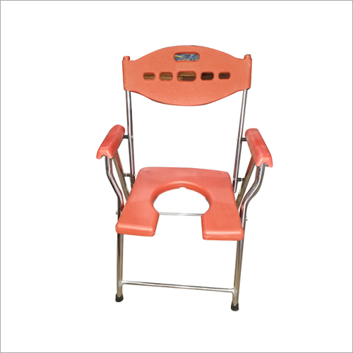 Heavy Chrome Commode Chair