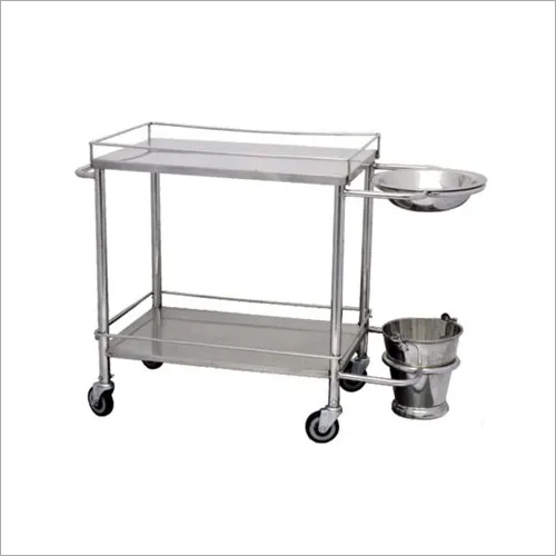 Instrument Trolley With Bowl And Bucket