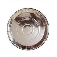 Round Silver Paper Thali