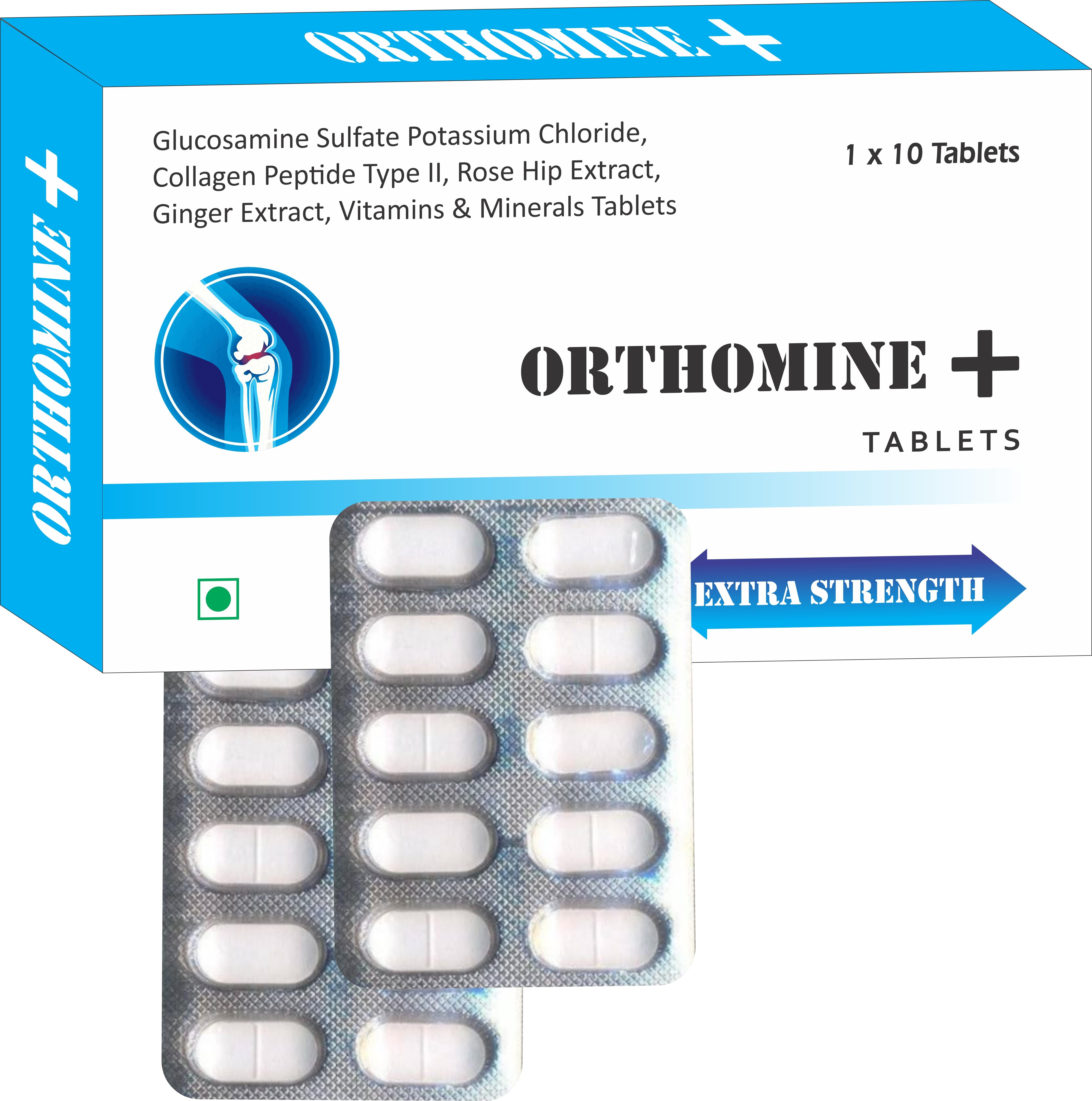 Glucosamine Chloride, Collagen Type 2, Rose Hip, Ginger, Vitamins & Minerals Tablets
