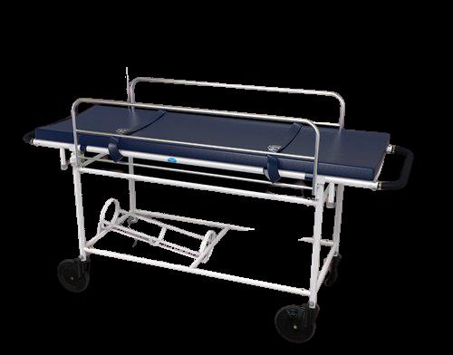 A1046 Stretcher On Trolley With Railing Saline Nob And Saline Rod Oxygen Arrange