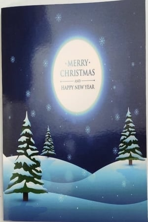 Merry Christmas Musical Singing Audio Greeting Card, Musical Record Able Customized