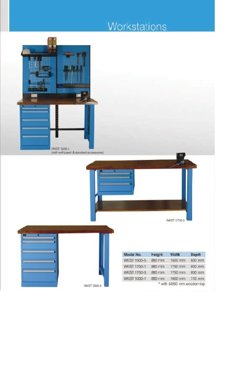 Tool Cabinets, Tool Trolleys & Workstation Tables