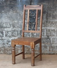 Wooden Chair with Cast iron work