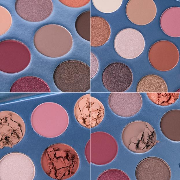 cardboard eyeshadow pigment palette beauty make cosmetic