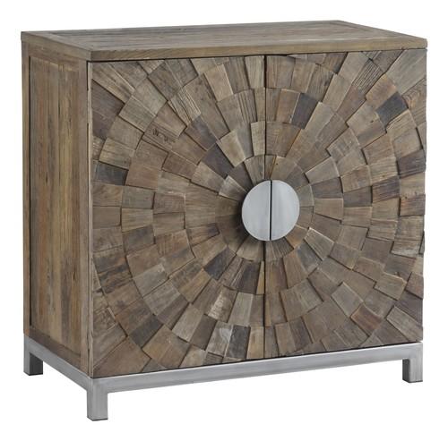 Carved door cabinet