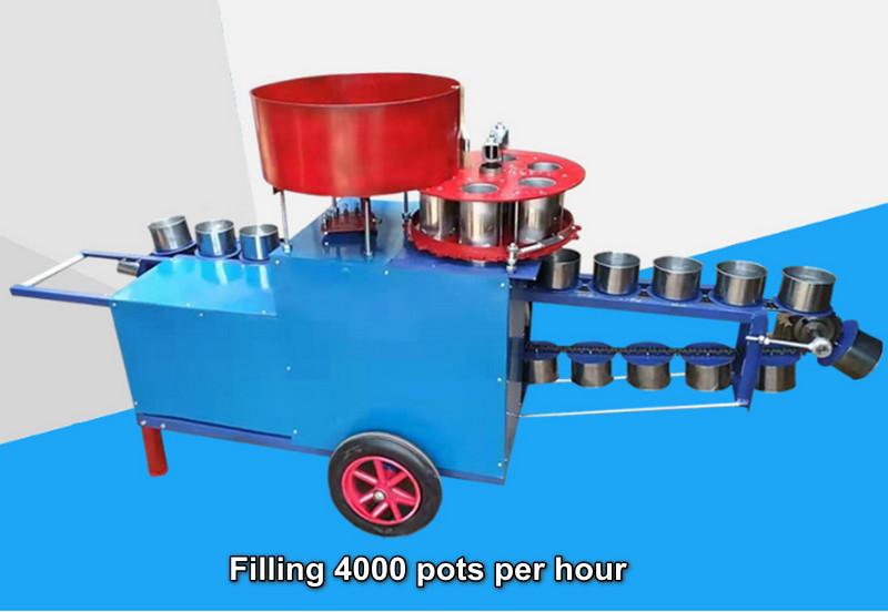 Flowerpots Soil Filling Machine
