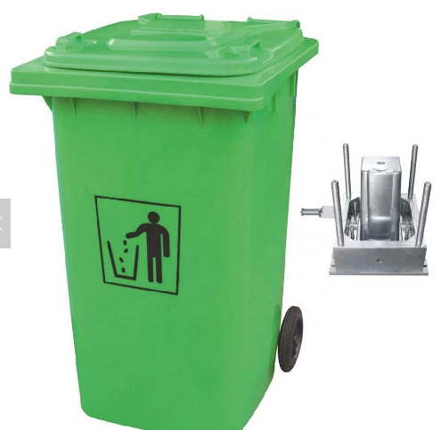 Plastic Dustbin With Wheels Mould