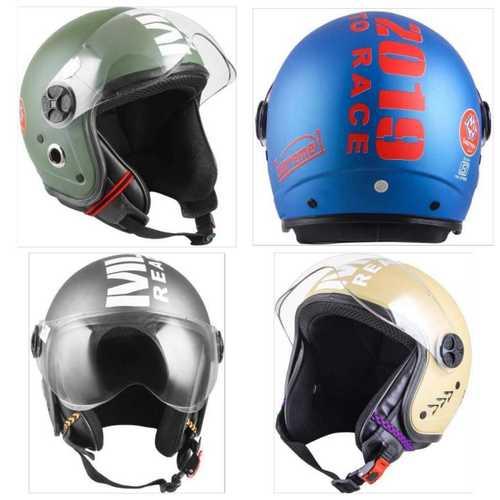 Blue Half Face Bike Helmet