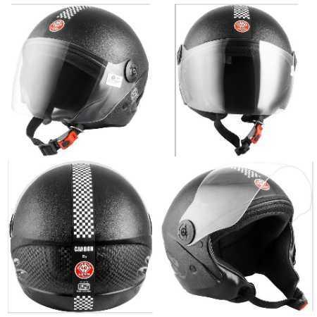 Carbon scooter helmet
